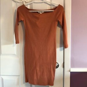 Quarter Sleeve Ribbed Dress